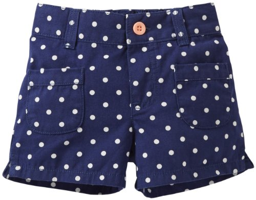 Carter'S Girls' Woven Dot Print Shorts (Toddler/Kids) - Navy - 5T