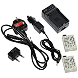 TOP-MAX Travel Charger with 2 Lithium-Ion LP-E8 Battery for Canon EOS 700D,EOS 650D,EOS 600D,EOS 550D,Rebel T2i T3i T4i T5i,Kiss X5 X4 Digital Cameras