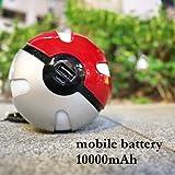 モンスターボール風 モバイルバッテリー モバイルチャージャー 充電器 ポータブル スマホ i phone Apple アップル Android アンドロイド タブレット 大容量 軽量 おしゃれ かっこいい メンズ かわいい キュート Felicita'AAP 10000mAh