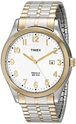 Timex Men's T2N851 Elevated Classics Stainless Steel Dress Watch With Two-Tone Expansion Band