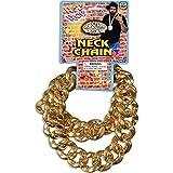 26 Inch 80's Hip Hop Old School Bling Big Link Fake Gold Necklace (Plastic)