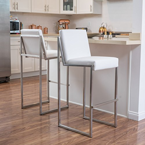 Great Deal Furniture Denise Austin Home October Bonded Leather Barstool (Set of 2)
