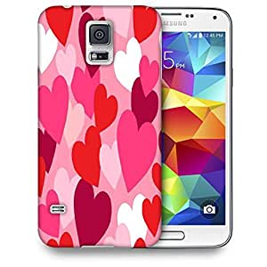 Snoogg Multiple Hearts Printed Protective Phone Back Case Cover For Samsung S5 / S IIIII