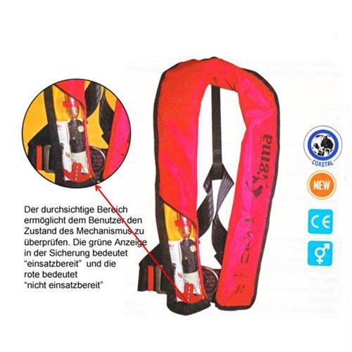 Lalizas automatische Rettungsweste Sigma 150 N ISO 12402-3 mit Sicherheitsgurt