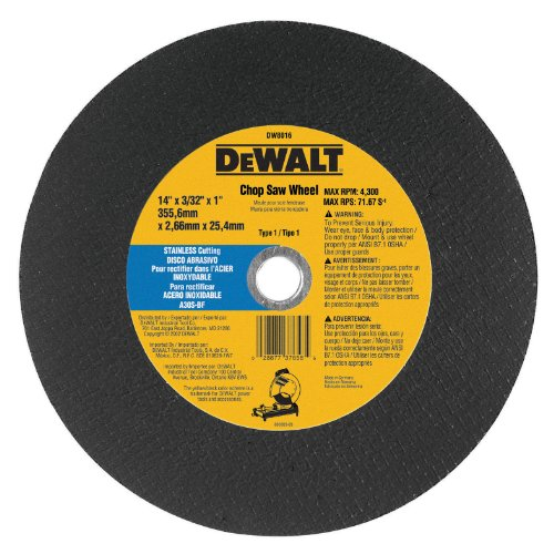515gPBqLlbL Cheap DeWalt DW8016  14 Inch by 7/64 Inch by 1 Inch Stainless Steel Cutting Wheel