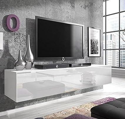 Muebles Bonitos - Mueble TV modelo Zoe L en color blanco (100cm)