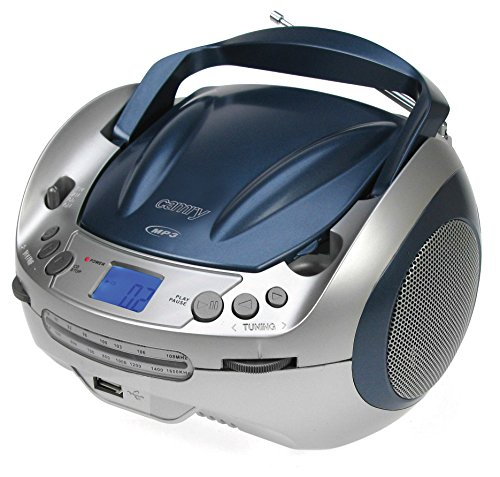 Stereo CD-Radio mit CD MP3 Player USB Wiedergabe Kinder Musikanlage tragbare Stereoanlage Boombox BLAU