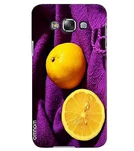 Omnam Lemon On Purple Cloth Printed Designer Back Case Samsung Galaxy E5