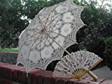 Wedding Parasol and Matching Lace Fan
