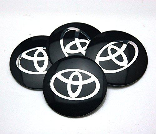 BENZEE 4pcs D120 Black 56.5mm Car Emblem Badge Sticker Wheel Hub Caps Centre Cover TOYOTA COROLLA RAV4 Camry PRIUS REIZ VIOS (Hubcap Prius compare prices)