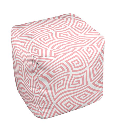 E by design FG-N9-Pink-13 Geometric Pouf