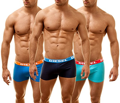 Diesel Boxer Uomo Shawn 3 Pack ALL OVER, nero, XL