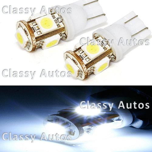 WHITE LED Bulbs High Power T10 Reverse Backup