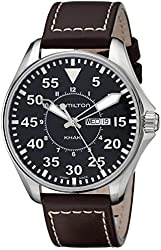 Hamilton Men's H64611535 Khaki King Pilot Black Day Date Dial Watch