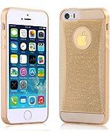 NOV@GO® Coque Gel TPU souple effet strass brillant pour iPhone5/5S --Dorée