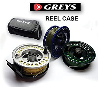 Greys Reel Case & (MLAR) Fly Reel & 3 Pre loaded Loaded Fly Lines Floating Intermediate & Sinking from Fishing republic