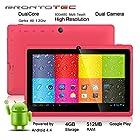 ProntoTec 7 Android 4.4 KitKat Tablet PC, Cortex A8 1.2 GHz Dual Core Processor,512MB / 4GB,Dual Camera,HDMI,G-Sensor (Pink)