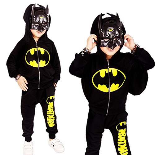 [E-Laurels Child's Superheros Batman Dark Bat Halloween Costume M] (Homemade Superhero Costumes For Girls)