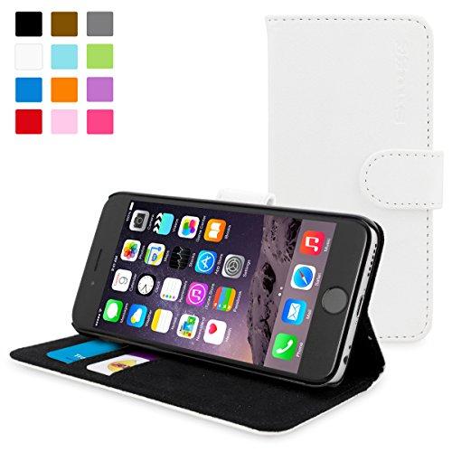 英国Snugg製 iPhone6用 PUレザー手帳型ケース -生涯補償付き (ホワイト)