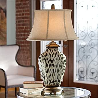 Cheetah Print Table Lamp Leopard Animal Jungle Pattern