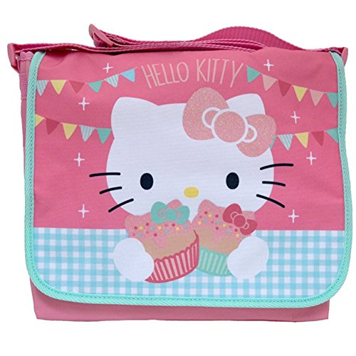 Official Cute Hello Kitty Tea Party Courier Messenger School Shoulder Bag