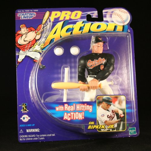 CAL RIPKEN JR / BALTIMORE ORIOLES With Real Hitting Action STARTING LINEUP PRO ACTION MLB Baseball Figure