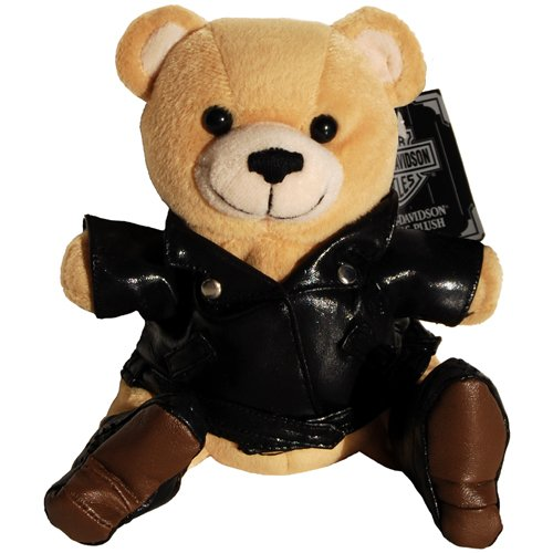 Harley Davidson Motorcycle Kickstart Teddy Bear Bean Bag Plush