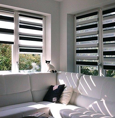 victoria m tenda a rullo doppia klemmfix montaggio senza fori 70 x 150 cm bianco. Black Bedroom Furniture Sets. Home Design Ideas