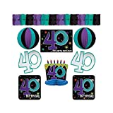 "The Party Continuous 40th Birthday Party Assorted Room Decorating Kit , Pack of 10, Multi , 10.7"" X 1.3"""
