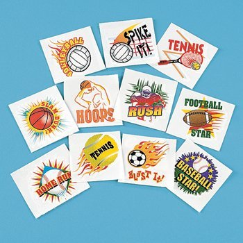 Fun Express Sports Tattoos (6 Dozen) - 1