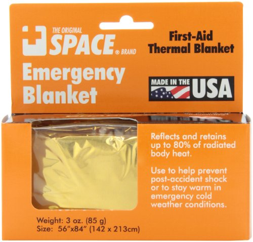 Grabber Outdoors The Original Space Brand Emergency Survival Blanket- Gold/Silver (Space Blanket Gold compare prices)