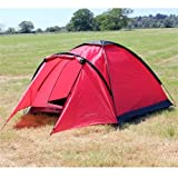 North Gear Camping Mono 3 Man Waterproof Tent Red