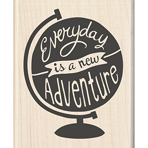 "Inkadinkado A New Adventure Mounted Rubber Stamp, 2.25"" by 2.75"" - 1"