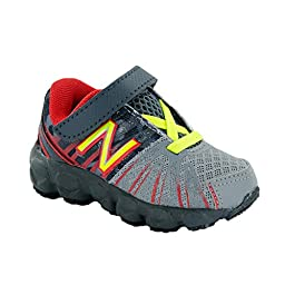 New Balance KV890 PDI Hook and Loop Running Shoe (Infant/Toddler), Grey/Red, 2 M US Infant