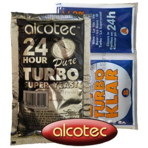 Alcotec 24 Turbo Yeast AND TurboKlar Finings Homebrew Vodka Spirit Moonshine
