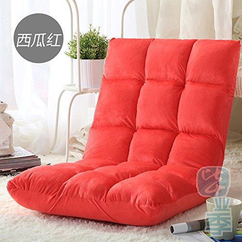 Dngyfaule-Person-Kleine-Sitz-mit-ausziehbarem-Schlafsofa-Tatami-matten-Clubsessel-faule-Leute-Sitz-Wassermelone-11050cm-rot