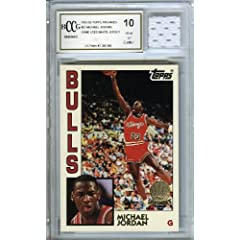 1984 Topps #52 Michael Jordan Archives Rookie with Piece of Authentic Michael Jordan...
