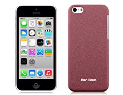 Bear Motion (Tm) Premium Slim Iphone 5C Back Cover Case For Apple Iphone 5C - Sand (Brown)