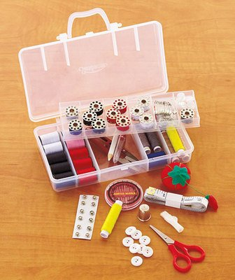 Buy Discount Sewing Kit - Home Essentials Sewing Kit With 18 Different Accessories - by Sunbeam