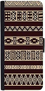 Snoogg Brown Aztec Pattern Designer Protective Phone Flip Case Cover For Xiaomi Redmi Note Prime