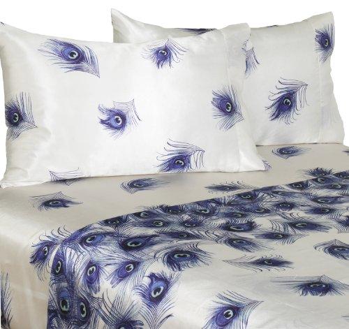 Peacock Print Bedding Set front-135797