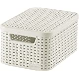 Curver 205840 Storage Box Rattan Look S with Second-Generation Lid Polypropylene