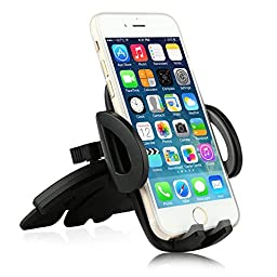 Ipow One Size Fits all Most Phone Car Mount Cradle Holder for iPhone 6 6(+) 6S 6S plus 5S 5C 4S,iPod Touch,Samsung Galaxy S5/S6/S7 Edge Note 3/4/5,Google Nexus,HTC,LG,Nokia,Motorola and More CellPhone
