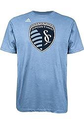 Sporting Kansas City Adidas MLS Primary Logo Light Blue T-Shirt