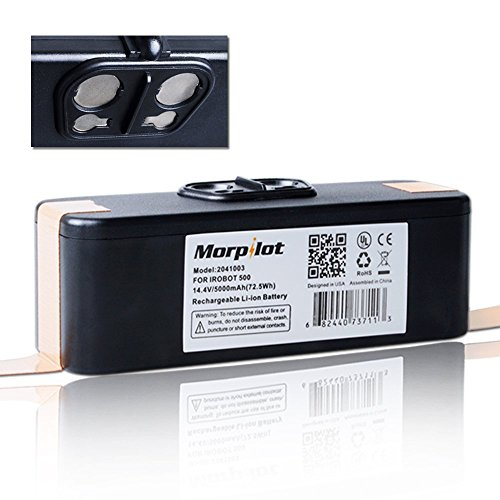 Cheapest Price! [UL&CE Approval]Morpilot® 5000mAh Li-ion Battery for Irobot Roomba 500 510 530 531 ...