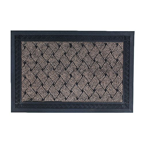 Valdler rubber entrance indoor outdoor door mat rug for Decorative door mats indoor