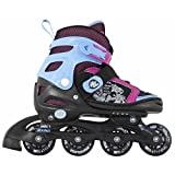Kryptonics Girl's Sparkle Inline Skate, Size 10-13
