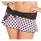 Delicate Illusions womens Plus size Polka Dot Mini skirt