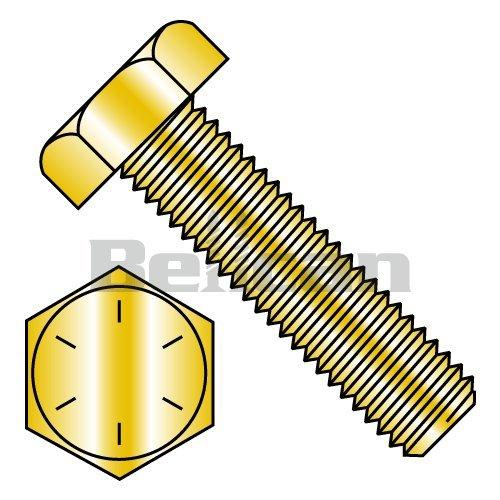 Nuts Flat /& Lock Washers Yellow 1//4-20x1-1//4 Grade 8 Hex Cap Bolts Screws 20 Sets