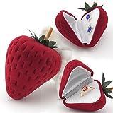 イチゴ風 ジュエリーケース Sweet Strawberry サプライズ プレゼント用 / イヤリング・ピアス・リングに対応 (1個)